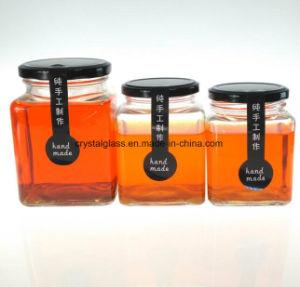 Quadratisches Glasglas für Chutney, Glas gor Bohnengallerte-Glas
