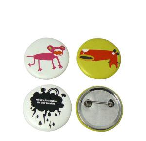 カスタム印刷の錫またはブリキまたはプラスチックボタンのバッジ(017)