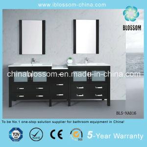 Moderne Anstrich-Badezimmer-Eitelkeit MDF-hölzerner Badezimmer-Schrank (BLS-NA016)