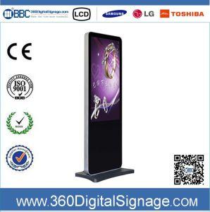 42 affissione a cristalli liquidi Indoor Advertizing Digital Signage di pollice HD Free Standing con Network 3G/WiFi per la Banca