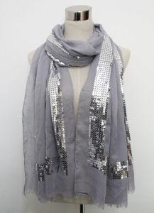 2015年のNew Fashion Sequin Cotton女性ボイルのスカーフ(YKY1047)