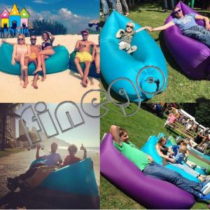 Finego Kaisr Lamzac Sleeping Inflatable Portable Beach Lounge Sofa Air Bed