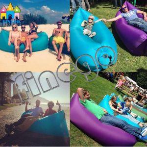 Finego Kaisr Lamzac dormir inflable Cama portable de salón de la playa Sofá Aire