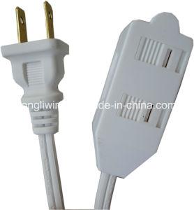 UL/certificación ETL Indoor el cable de extensión con la toma de corriente de 3