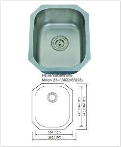 Acero inoxidable 304 Undermount disipador de una sola barra 4738A (1815) con Cupc