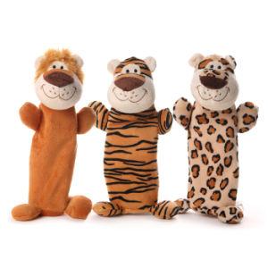 Soft animal en peluche Tiger Lion jouets pour animaux familiers pour chien