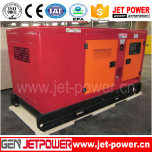침묵하는 디젤 엔진 힘 3 단계 20 kVA 발전기