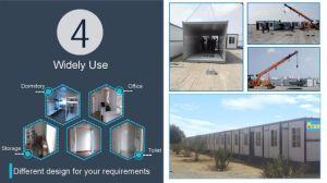 経済的なプレハブかプレハブの容器のFoldable移動式家