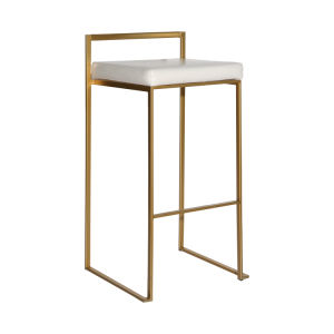 Golden tabouret empilable en acier inoxydable