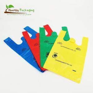 Custom degradável bioplástico plástico compostável T-shirt Bag