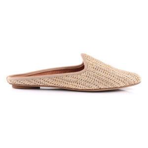 L'été Fashion femmes Raphia tissé sandale pantoufle chaussures plates