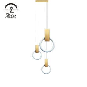 2018 novíssimo Design LED Círculo Travando Anel moderna iluminação Lâmpada Pendente