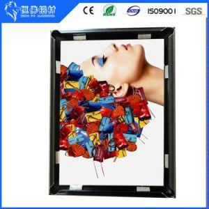 Пружинное стопорное алюминия со светодиодной технологией Picture Frame - черный цвет