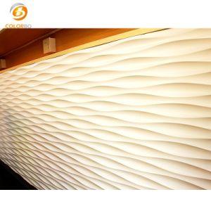 Innen-Wand MDF-akustische strukturierte Belüftung-3D für Dekoration