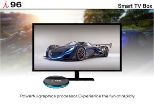 Androider Fernsehapparat-Kasten mit drahtlosem Vierradantriebwagen-Kern 1GB RAM/8GB der Tastatur-I96 S905X ROM mit 4K 1080P HD, WiFi Media Player