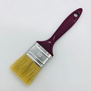 ロシアの白いプラスチックPPハンドルが付いている純粋な剛毛の絵筆