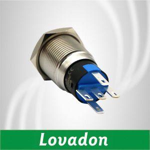 16mm métal industriels Commutateurs à bouton poussoir étanche anneau avec lampe à LED