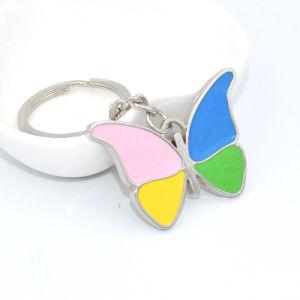 Nueva llegada novedad colorido Llavero de aleación con anillo