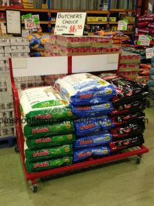 Hochleistungsmetallbildschirmanzeige-Zahnstangen-Standplatz für Nahrung des Purina Hundes