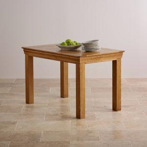 Деревенский старинные дубовые цельной древесины обеденный стол