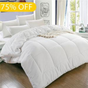Cama de design novo tecido de algodão lavável Edredon de penas de Pato Branco/Sair/Consolador