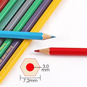 고품질 금속 관을%s 가진 나무로 되는 색깔 연필