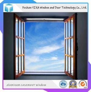 Yika vidrio templado doble salto térmico aluminio Casement Window