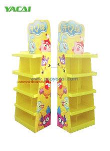 Gewölbte Pappe-Ladeplatten-Bildschirmanzeige-Spielwaren, Standplatz-Pappfußboden-Bildschirmanzeige-Zahnstangen