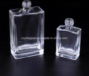 De vlakke Ronde Fles van het Glas van het Parfum met Spuitbus