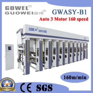 Gwasy-B1 de 8 de rotograbado de impresión en color de la película la máquina de 160 m/min.
