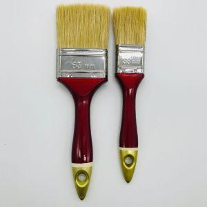빨강 & 황금 플라스틱 손잡이 페인트 붓
