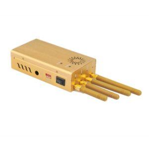 De draagbare 4-antennes Stoorzender die van Cellphone GSM CDMA 3G GPS of WiFi blokkeren
