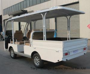 Venda por grosso de 8 Lugares Autocarro Turístico eléctrico com a caixa de carga