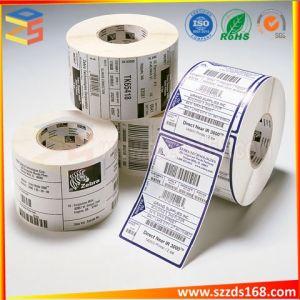 Kundenspezifischer Kennsatz-thermischer Barcode-Aufkleber-doppelte Schicht-Aufkleber