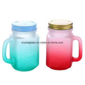 China Fábrica Design Personalizado grossista Mason Jar com pega