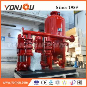 Sistema de suply agua para regar o extinción de incendios o edificio alto de abastecimiento de agua