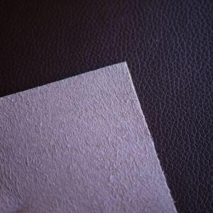 Het In reliëf gemaakte Leer Microfiber van het litchi Patroon voor de Voering van het Bovenleer van de Schoen
