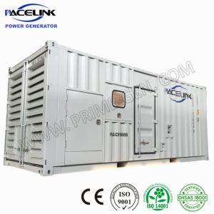 1000kVA Cummins schielt 20 ' Hauptquartier Containerized super leises DieselGenset an