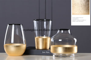 Euroshell vaso vaso de vidro lateral preta
