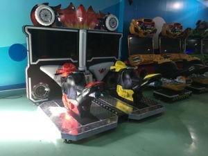Muntstuk In werking gestelde Arcade die Moto vlammen die de Video het Drijven van de Auto Machine van de Spelen van de Simulator rennen