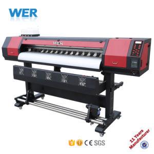 1,6 1,8 3,2 m y 1440dpi Flex Banner Plotter impresora solvente ecológica de gran formato con DX5 Cabezal de impresión
