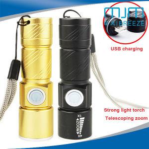 Aleación de aluminio negro oro&linterna LED Mini Linterna de metal