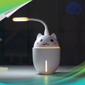 3 en 1 Cute Pet aire más fresco coche humidificador ultrasónico con luz LED y ventilador de regalo de Navidad