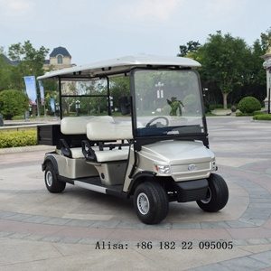 4 wielen Electric Golf Cart 4 Seats 48V 4kw met Box