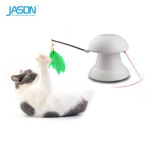 Het USB Geladen Huisdier van uitstekende kwaliteit Cat&Dog van de Wijzer Laser&Feather Interactief Stuk speelgoed