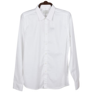 Los hombres la camisa blanca de algodón formal