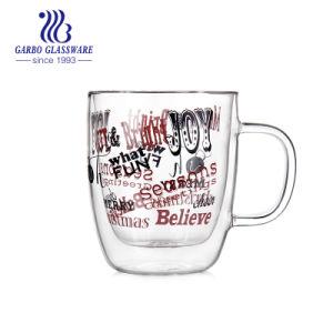 tazza di caffè di vetro stampata doppia del Borosilicate 500ml (GB510020400)