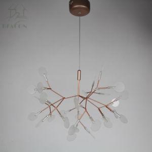 Firefly feuille acrylique lustre moderne pour la salle à manger