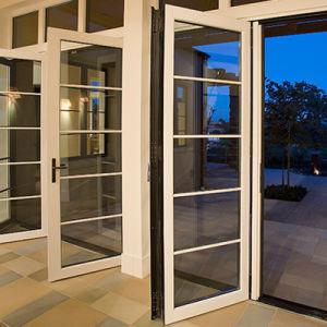 Diseño moderno de la puerta de Casement de aluminio con perfil de aluminio