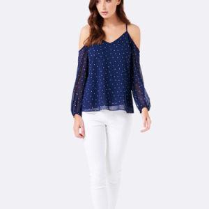 8bad0e5c59 2017 Azul OEM nueva moda casual de manga larga mujer blusas